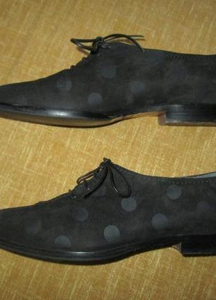 Оксфорды sergio rossi оригинал кожаные туфли италия