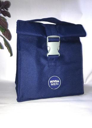 Термосумка термо сумка с держателем холода для еды холодных напитков на для пикника nivea