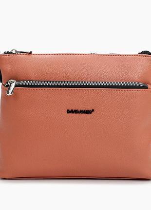 Клатч сумка кроссбоди david jones cm6114 оранжевая коралл 61142 фото