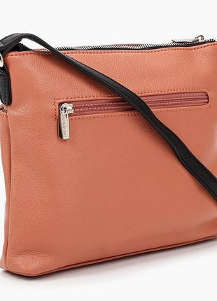 Клатч сумка кроссбоди david jones cm6114 оранжевая коралл 61143 фото