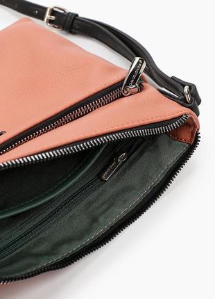 Клатч сумка кроссбоди david jones cm6114 оранжевая коралл 61144 фото