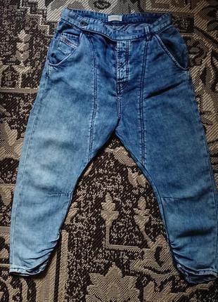 Брендові фірмові жіночі літні лляні джинси бріджі diesel,оригінал.
