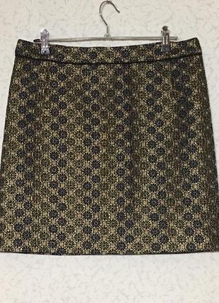 Нарядная парчовая жаккардовая юбка