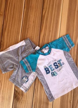 Летний костюм футболка шорты 1-1,5 года