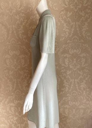 Cividini италия трикотажное платье шелк поло в стиле bottega2 фото