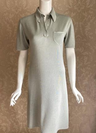 Cividini италия трикотажное платье шелк поло в стиле bottega