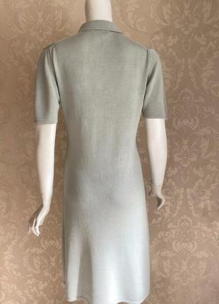 Cividini италия трикотажное платье шелк поло в стиле bottega3 фото