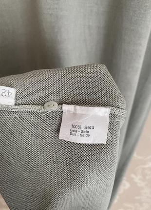 Cividini италия трикотажное платье шелк поло в стиле bottega8 фото