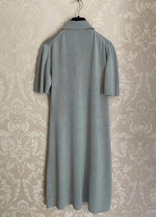 Cividini италия трикотажное платье шелк поло в стиле bottega9 фото