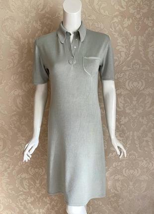 Cividini италия трикотажное платье шелк поло в стиле bottega4 фото
