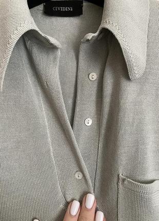 Cividini италия трикотажное платье шелк поло в стиле bottega6 фото
