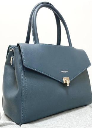 Женская сумка david jones 5818 голубая бирюза cm5818t