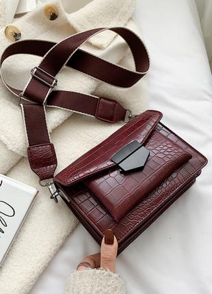 Новая женская сумка, сумка на одно плечо, широкий ремень через плечо