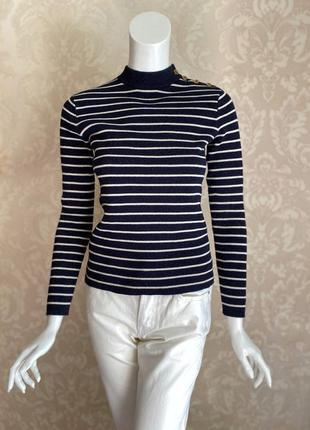 Ralph lauren синий свитер тельняшка в полоску