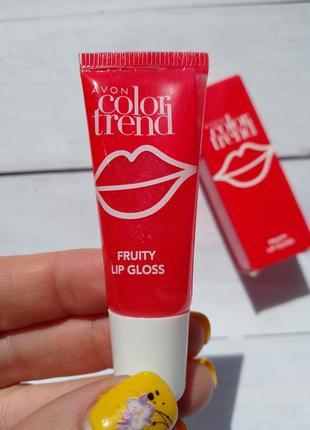 Фруктовый блеск для губ avon color trend