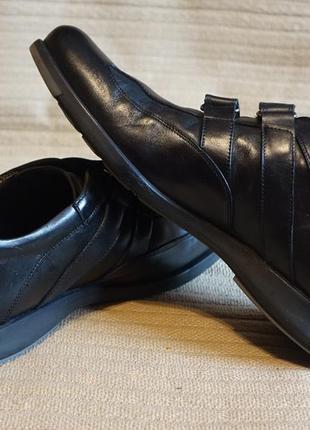 Отменные благородные черные спортивные туфли navyboot швейцария 44 р.