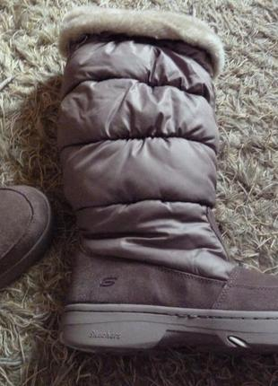 Зимние сапоги с thinsulate, натуральная замша. skechers. 41
