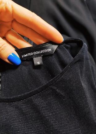 Marks spenser платье чёрное с длинным рукавом сеточка миди карандаш футляр по фигуре4 фото