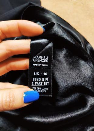 Marks spenser платье чёрное с длинным рукавом сеточка миди карандаш футляр по фигуре5 фото