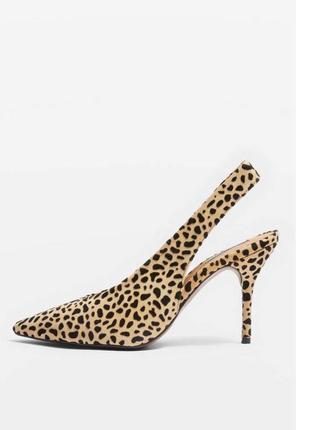 Кожаные туфли с открытой пяткой