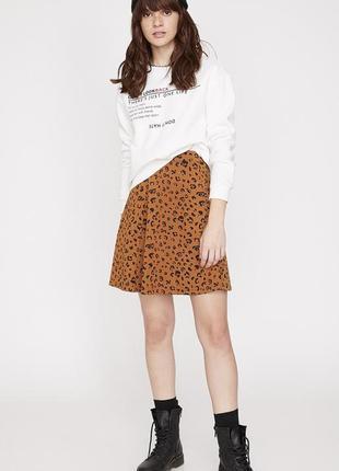 Спідниця леопардова юбка солнце літня