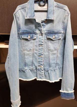 Джинсовая куртка пиджак s- м