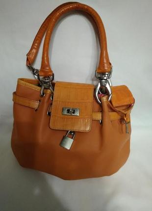 Hardelli сумка из натуральной кожи италия