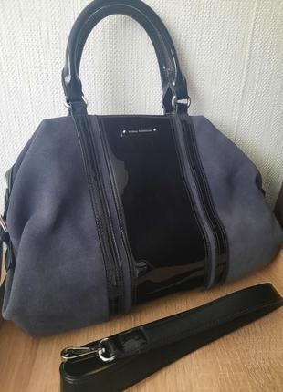 Замшева сумка