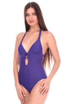 Фиолетовый сдельный купальник
