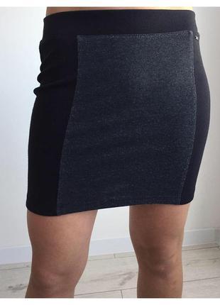 Юбка спідниця мини юбка черная юбка черно-серая мини юбка облегающая юбка