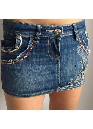 Джинсова юбка, джинсова спідниця, коротка спідниця, джинсовая мини юбка.