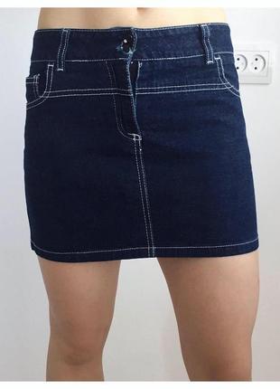 Юбка джинсова мини-юбка спідниця, юбка, темно синяя мини юбка тренд 2021
