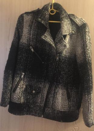 Пальто-косуха h&m шерсть 8 р