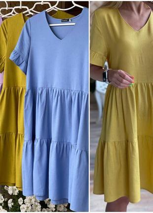 Платье летнее женское лен