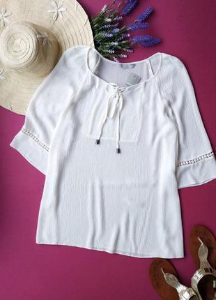 Натуральная удлиненная блуза george.