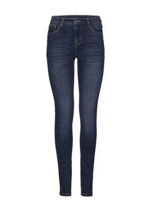 Cиние джинсы скинни s 36 euro esmara super skinny