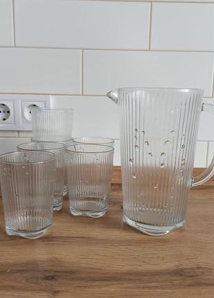 Набор 7 пр графин +6 стаканов