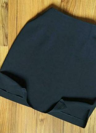 Винтажная юбка с вырезами на высокой посадке короткая мини