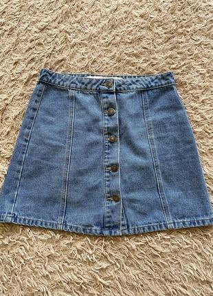 Юбка джинсовая трапеция denim co