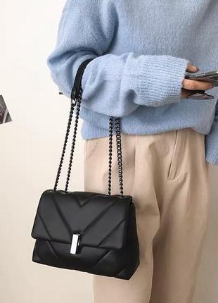 Прекрасна сумочка на ланцюжку в стилі zara
