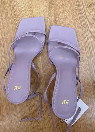 Босоножки босоніжки на каблуку тренд h&m zara
