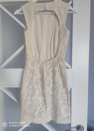 Платье zara нарядное с открытой спиной