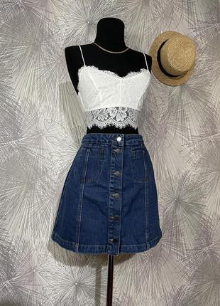 Стильная джинсовая юбка 🖤topshop🖤