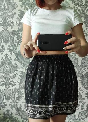 Летняя юбка из вискозы
