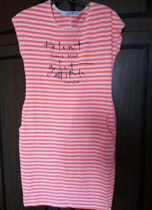 Модное платье футболка