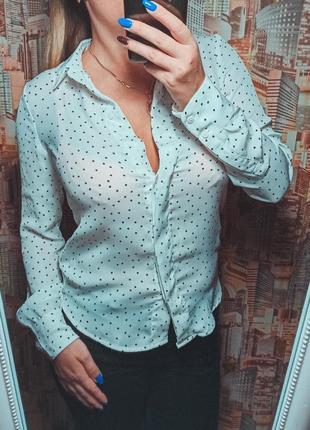 Рубашка блузка в горошек