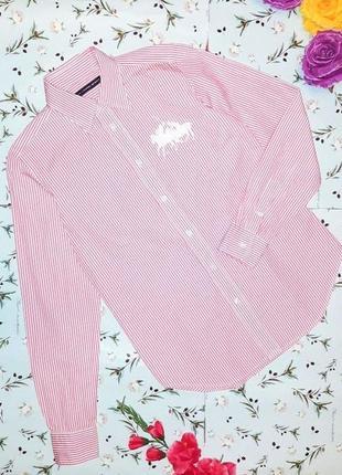 🎁1+1=3 фирменная крутая рубашка блуза в полоску ralph lauren оригинал, размер 42 - 44