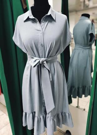 Крутое платье-рубашка