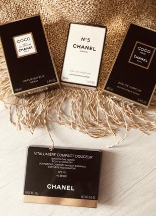 Chanel новая пудра в упаковке