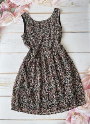 Летнее платье цветочный принт